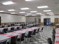 Sparta Fire Hall Tables
